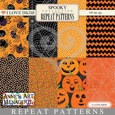 Spooky Repeat Patterns #1 - 8