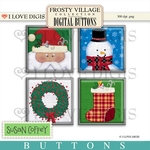 Frosty Village Digital Buttons #1