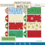 Frosty Village Digital Tags