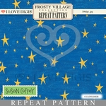 Frosty Village Repeat Pattern #19 Starry Night