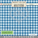 Frosty Village Repeat Pattern #25 Houndstooth - Blue